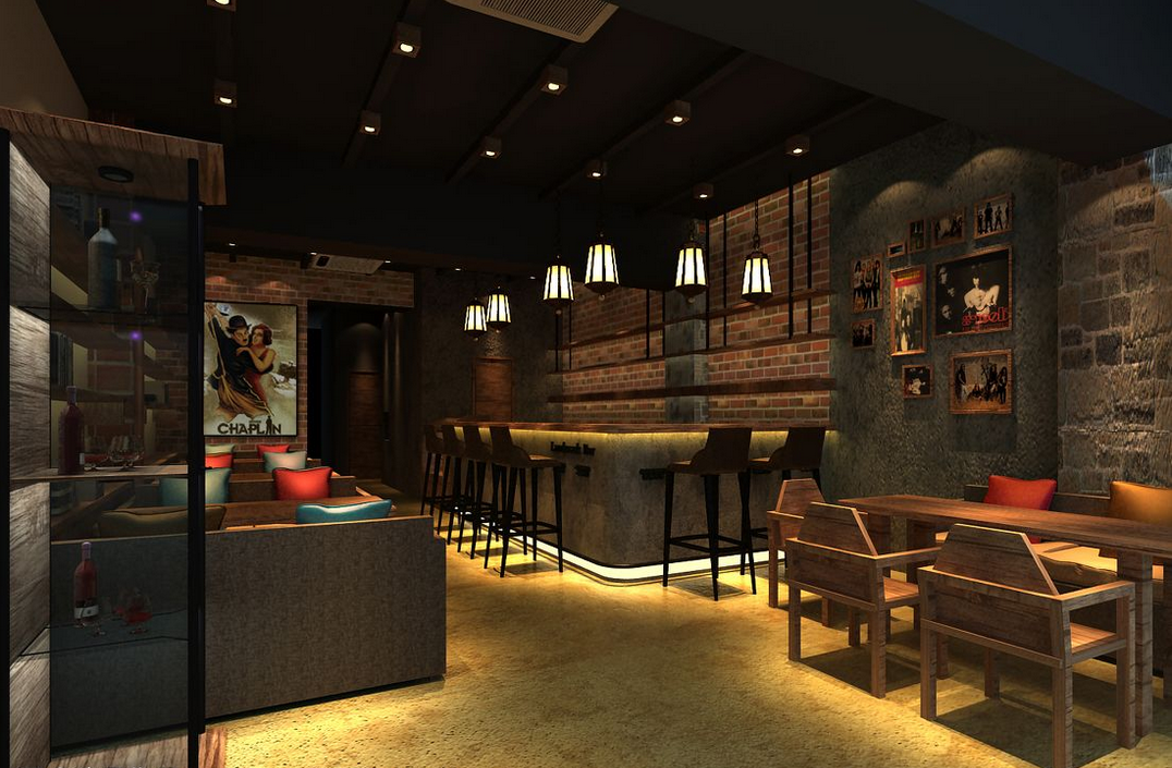 在咖啡厅设计效果图就往理念的重要组成部分  为了构想出空间