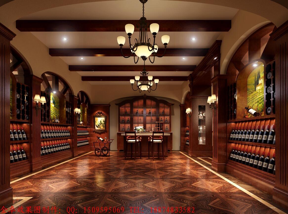 在品酒区效果图的设计中,还有一个需要注意的事,就是一定要注意品酒区