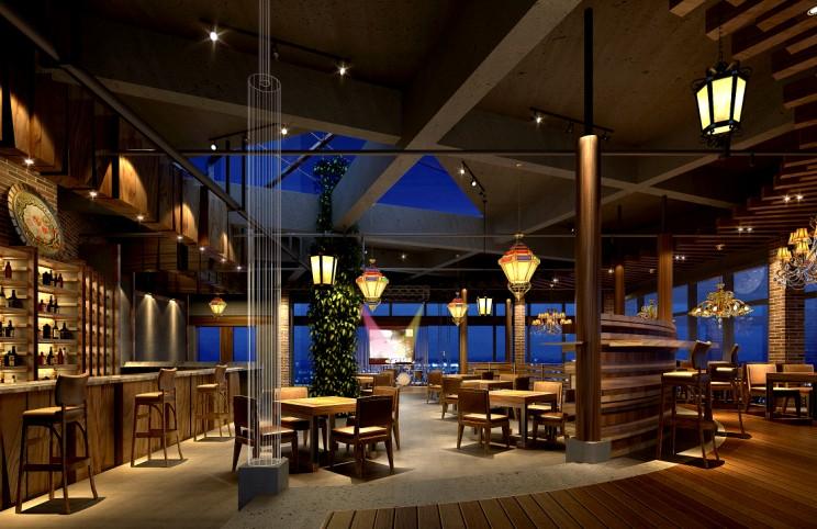 中式餐厅大厅装修效果图