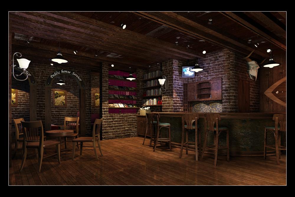 咖啡厅设计效果图【咖啡厅装修设计效果图】咖啡厅的装修设计与理念